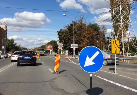 Lucrările la prelungirea liniei de tramvai din Calea Aradului deviază circulația pe podul peste Peța