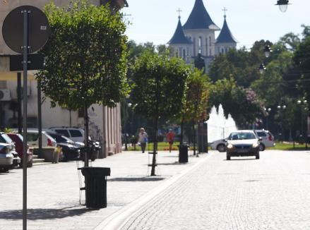 Reguli noi în Oradea: Intrarea cu maşina pe arterele pietonale se va sancţiona cu amendă de 2.500 lei. Vezi cât costă un stâlp distrus!
