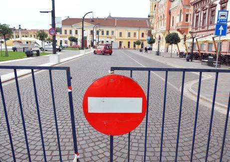 Traficul auto prin Piaţa Unirii va fi interzis luni seară pentru a face loc concertului José Carreras
