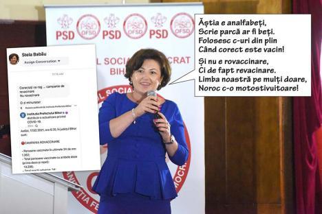 Stela 'revacinata': PSD-ista Stela Babău s-a cam făcut de râs cu... limba română