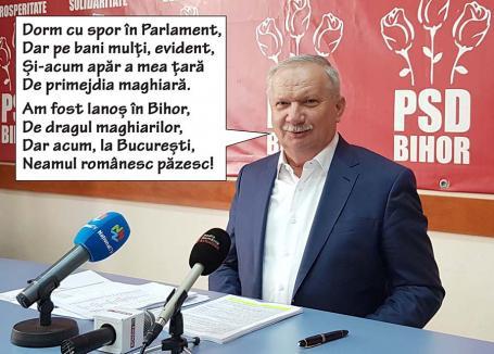 Mang repatriat: Liderul PSD Bihor demonstrează cât e de 'praf' la capitolul activitate (VIDEO)