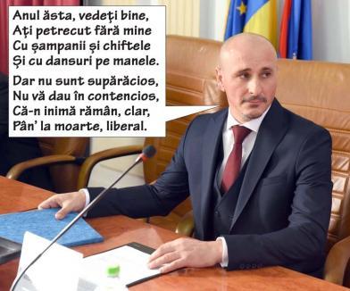 Revelion de partid: Noul prefect de Bihor a lipsit de la cheful de An Nou al PNL-iștilor
