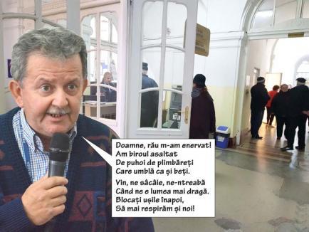 Fiara din Primărie: Directorul tehnic Mircea Ghitea e iritat de accesul liber al orădenilor în instituție