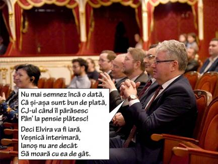 Frână la Pásztor: Preşedintele CJ Bihor a refuzat să semneze numirea Elvirei Rîmbu în funcţia de manager al Teatrului