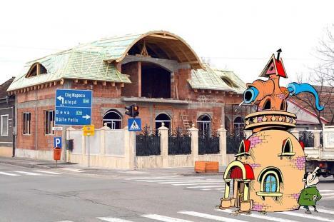 Bolojan poliţaiul: A descoperit o vilă de prost gust construită fără autorizație pe Calea Clujului