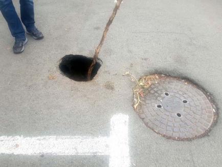 Hăul din parcare: Parcarea de pe Strada 1 Decembrie a devenit pericol public (FOTO)