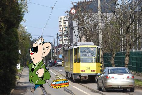 OTL la relanti:De ce merg mai încet tramvaiele pe strada Olimpiadei din Oradea
