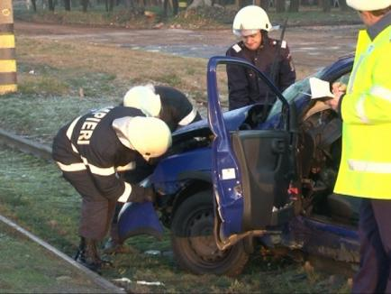Cinci răniţi, între care trei copii, într-un accident la Toboliu (FOTO)