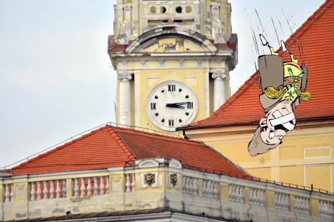 Iancule, tare! Ceasul lui Iancu din turnul Primăriei Oradea s-a defectat