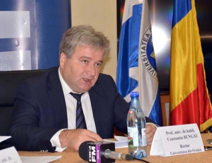 """Gura păcătosului... Rectorul Constantin Bungău visează """"producție"""" la Universitatea din Oradea"""