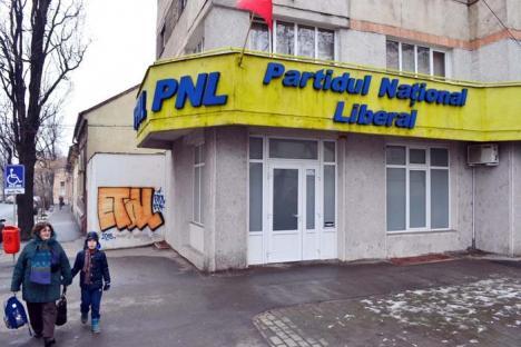 Etal liberal: Sediul PNL din Bulevardul Magheru, mâzgălit de grafferul Etal