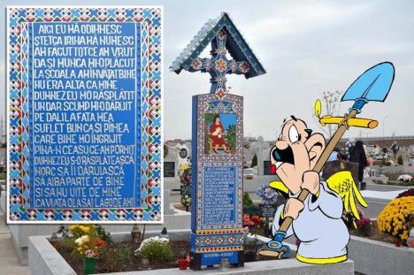Săpânţa de Oradea: În Cimitirul Municipal a apărut un mormânt… amuzant