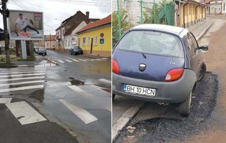 Ocol pentru Dorel: Lucrările efectuate de mântuială în Oradea se 'răzbună'