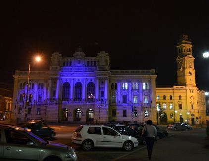 Primăria, iluminată în albastru: Bihorul, pe loc fruntaş la numărul bolnavilor de diabet