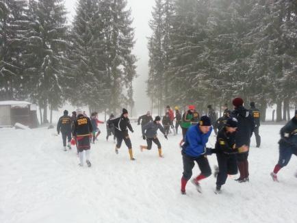 Fotbaliştii de la CS Oşorhei şi-au încheiat cantonamentul de la Stâna de Vale