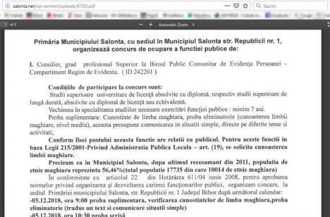 'Tuţi magyarul! Un concurs dedicat vorbitorilor de maghiară la Salonta, câștigat de o… româncă