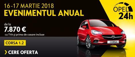 Evenimentul Opel 24h: oferte avantajoase în Programul Rabla la Opel West Oradea.