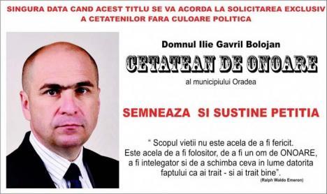 Onoarea lui Bolojan: Primarul Oradiei s-a trezit propus… cetăţean de onoare al oraşului