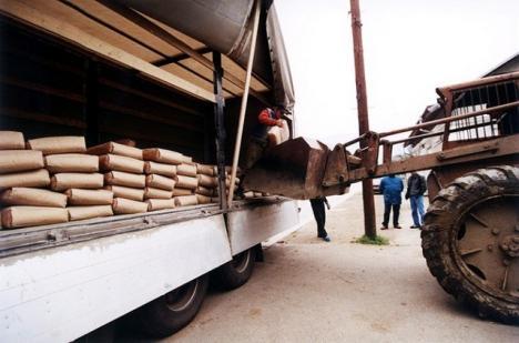 Revoltător: 160 de tone de ciment trimise sinistraţilor din Suceava în 2008 zac în sediul Poliţiei de Frontieră