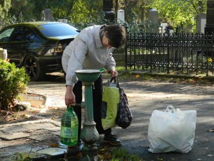 """Aglomeraţie la Rulikowski: Mii de orădeni au asaltat cimitirul pentru a face ultimele pregătiri de """"Ziua morţilor"""" (FOTO)"""