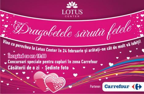 Lotus Center sărbătoreşte Dragobetele cu free hugs şi căsătorii pentru o zi