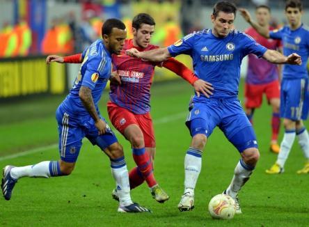 Steaua a fost învinsă de Chelsea şi e eliminată din Liga Europa