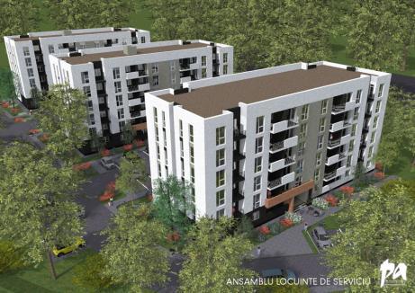 3 blocuri cu locuinţe de serviciu 'la preţuri atractive', construite în Oradea, lângă Centură. Pentru primul s-a semnat contractul. Vezi cum arată! (FOTO)