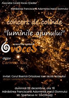 Luminile ajunului: Corul de cameră Voces colindă bisericile din Oradea şi din judeţ