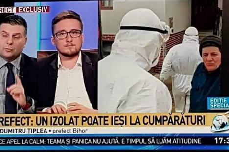 Prefectul de Bihor, Dumitru Ţiplea, criticat la Antena 3 fiindcă a spus că persoanele suspecte cu coronavirus pot ieşi la cumpărături