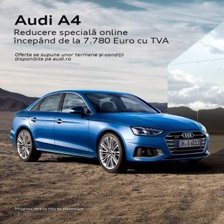 Profită de leasing-ul operațional, cu avans minim 5%, la Audi A4, Q3 sau Q5 prin D&C Oradea! Acum poți beneficia de prețuri speciale la modele din stoc!