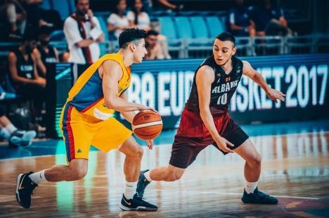 România a învins Albania şi a terminat pe primul loc în grupă la Campionatul European de baschet U20 de la Oradea