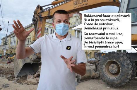 Bihorel: În Oradea, cel mai rapid mijloc de transport este buldozerul