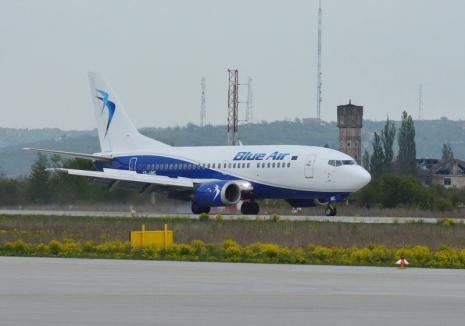 Pleacă Ryanair, vine Blue Air: Cel puțin două curse externe, din iarnă, pe Aeroportul din Oradea