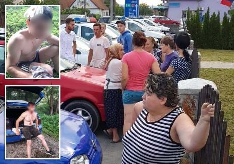 Scandal la Borod: Trei bărbaţi au ajuns la spital, zeci de localnici s-au adunat în faţa Primăriei protestând faţă de agresivitatea ţiganilor din zonă (FOTO)