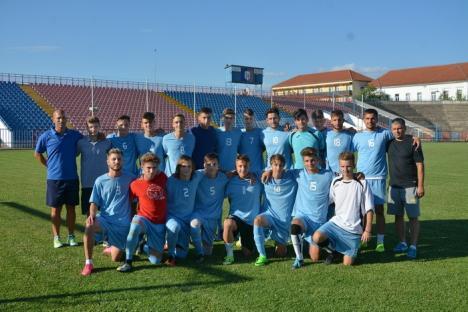 Noua echipă de fotbal a Oradiei, CAO 1910, a dispus cu 12-0 de juniorii de la CS Oşorhei (FOTO)