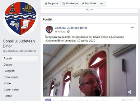 Pe ascuns: Consiliul Judeţean Bihor a făcut şedinţă extraordinară pe care, în ciuda promisiunii că poate fi urmărită online, nu a transmis-o în direct