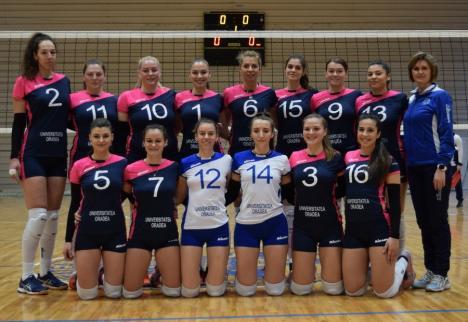 Volei: CSU Oradea s-a impus cu 3-0 în primul joc din noul an și a urcat pe locul II