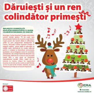 Campanie caritabilă inedită: Dăruieşti şi un ren colindător primeşti!