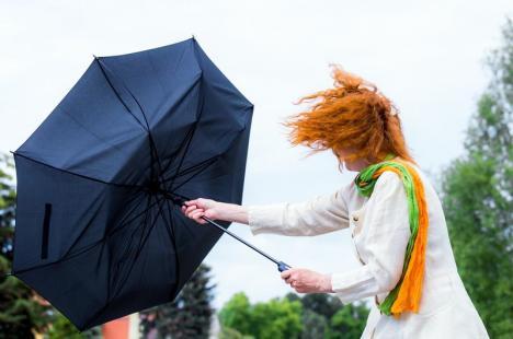 Cod galben de vânt. Rafalele vor putea atinge luni în Bihor viteze de până la 80 kilometri pe oră
