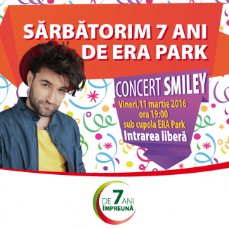 Concert aniversar: Smiley vine în super concert la ERA Park!