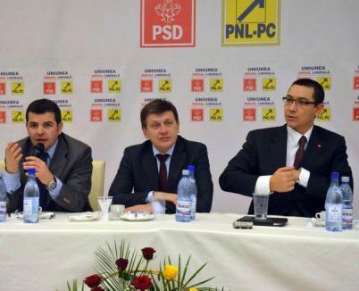 """Liderii PSD, PNL şi PC le-au cerut activiştilor din Bihor """"să se împrietenească"""" pentru a învinge PDL (FOTO)"""