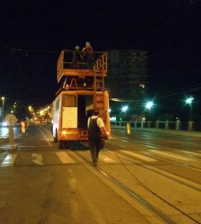 Au început lucrările la linia de tramvai de pe Magheru (FOTO)