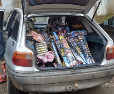 Peste 44.000 de petarde confiscate de jandarmi de la un marghitean