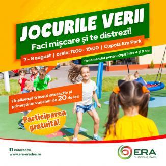 Jocurile Verii, la ERA Park Oradea: Câştigă şi tu un voucher de cumpărături!