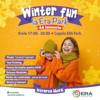 Copii, pregătiţi-vă de petrecere! E Winter Fun, la ERA Park Oradea