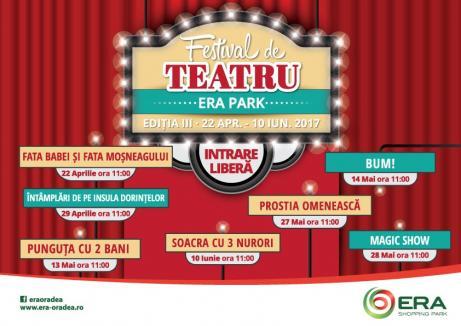 Începe Festivalul de Teatru la ERA Park!