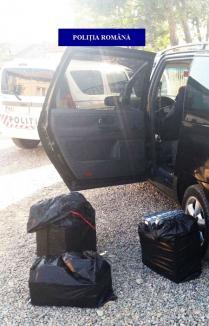 Captură de ţigări la Oradea: 1250 de pachete de ţigări ruseşti au fost ridicate dintr-o maşină oprită în trafic