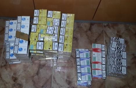 Poliţiştii au descins în pieţele orădene: Au fost confiscate ţigări de contrabandă şi cosmetice fără acte