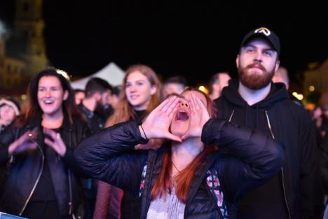 Favorita orădenilor: Mustang, cea mai votată trupă locală, a susținut un show plin de energie în Piața Unirii (FOTO / VIDEO)