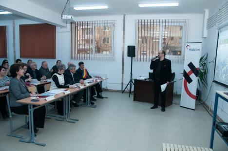Holcim susţine profesioniştii: Elevii Colegiului Alexandru Roman din Aleşd vor face practică într-un atelier modern (FOTO)